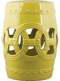 Sagebrook Home Ceramic Garden Stool Reviews Wayfair Within Yellow