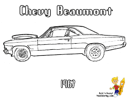 Download Coloring Pages Muscle Car Brawny American Cars