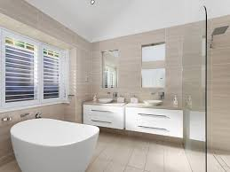 small bathroom using large tiles combined with light this