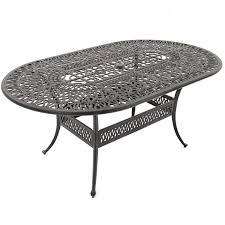 Cast Aluminum Outdoor Sets rosedown 7 piece cast aluminum patio dining set with 72 x 42 inch