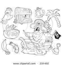 Beach Items Coloring Pages Digital Collage Of