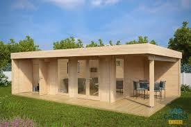 100 Modern Summer House Garden Lounge XXL 79m X 52m 44mm Log