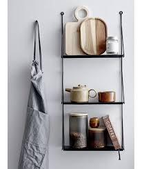 wandregal für die küche in gold aus metall mit haken madam