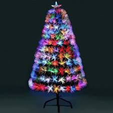 Jingles 4ft Supa Nova Multi Coloured Fibre Optic Christmas Tree