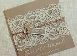 Rustic Vintage Wedding Invitations Beautiful Invitation White Ink Lace Square
