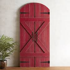 Red Barn Doors Wall Decor