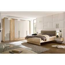 schlafzimmer set grandesco in hellgrau glanz und eiche dekor
