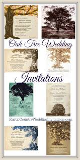 Rustic Oak Tree Wedding Invitations