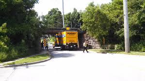 100 Truck Stuck Under Bridge Penske DeKalb IL 20150627 YouTube