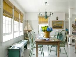 Coastal Cottage Style Kitchen And Dining Room With Aqua Green Accents Nautical Decor Tuscan