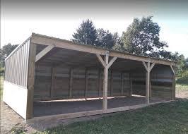 Livestock Loafing Shed Plans by Horse Shelter Ebay
