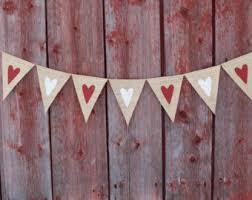 Heart Banner Valentines Day Decor Garland Bunting