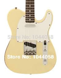 1967 Telecaster Relic Guitar Large C Neck Shape Aged Vintage Yellow Electric Best In From Sports Entertainment On