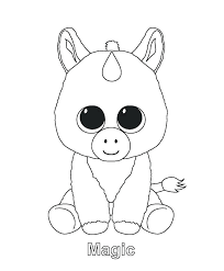 Cute Unicorn Coloring Pages 13992 Genuine And Baby Beanie Boo