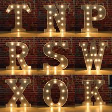 Grtsunsea 9inch Metal Marquee Letter Lights LED Vintage Circus Style