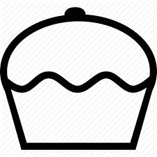 birthday cupcake dessert food muffin icon