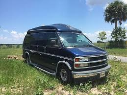 Chevrolet Express Conversion 2002 Chevy 1500 Hightop Van With 83 K Miles
