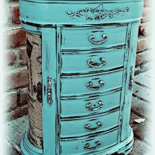 Shabby Chic Jewelry Box Distressed Rustic Blue