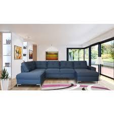 canapé d angle gauche panoramique convertible tissu tatiana pas