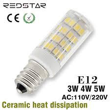 e12 base led light bulb t3 t4 jd 110v 120v or 220v 3w 4w 5w