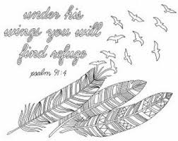 Items Similar To Feathers Coloring Page