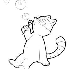 Koala Raccoon Blowing Bubbles Coloring Page