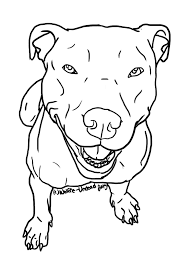 Free To Use Pit Bull Lineart PLEASE READ THE RULES BEFORE USING Wherever Posted Online You Must Give Written Credit Me And Link Back This