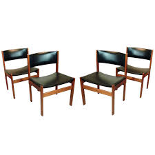 Set Of Four Danish Mid-Century Modern Teak And Leather Dining Chairs ... Red Ding Chair Chairs Marvelous Buy Mark Faux Leather 4 Pcs Classy Ding Chair For Sale Fniture Tables On Grey Classic Cream Room For Sale Brown Stylish Set Of Four Suspended Seat Rolf Benz Suede Six Contemporary Brass And Black Pair Ivory Counter Height P Amazoncom Colibroxset Elegant Design