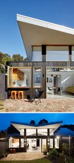 100 Australian Modern House Designs A Rear Extension With An Angled Roof Was Added To This