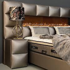 designer boxspringbett kingston mit kamin matratze stauraum