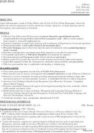 Law Enforcement Resume Templates Sample For Police Officer Together With