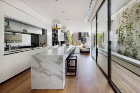 kitchen of magnificent home renovation optimizing the long narrow