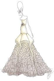 Drew Barrymores Wedding Dress Designer Sketches