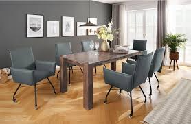 home affaire esszimmerstuhl 2er set landhaus stil grau material kunstleder juan