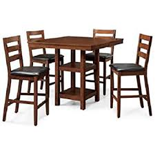 5 Piece Counter Height Dining Room Sets by Amazon Com Mainstays 5 Piece Counter Height Dining Set Warm