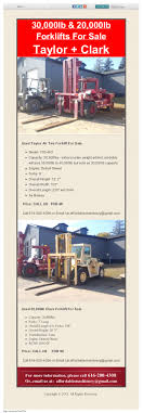 100 Used Truck Transmissions For Sale 30000lb Taylor 20000lb Clark Klifts