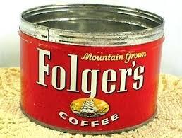 Foldgers Coffee 3 Of 6 Vintage Can Mountain Grown Key Wind No Lid Folgers Keurig Flavors