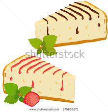 stock vector cheesecakes set cheesecake with strawberry and chocolate vector illustration isolated on white