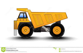 Dump Truck Cartoon Stock Vector. Illustration Of Building - 54489743