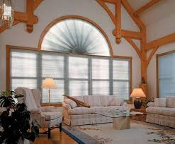 Curved Curtain Rod For Arched Window Treatments by Home Interior White Blind Wood And Curved Wood Window Curved