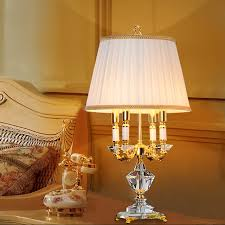 Crystal Table Lamps For Bedroom by Aliexpress Com Buy European Style Crystal Lamp Bedroom Led Table