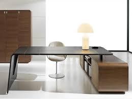 captivant bureau angle design verre noir petit dangle en beraue d