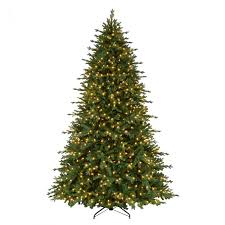 9 Ft Pre Lit LED Royal Spruce Artificial Christmas Tree With Warm White Lights
