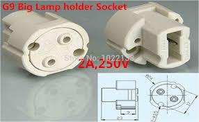 5pcs big g9 led socket halogen l holder light bulb base 2a 250v