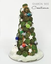 Saran Wrap Xmas Tree by Pandan And Coconut Cream Puff Christmas Tree