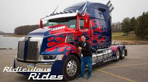 100 Optimus Prime Truck Model Worlds First FanBuilt RIDICULOUS RIDES YouTube