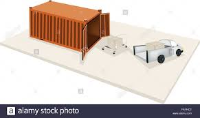 Hand Truck Or Dolly Loading Wooden Crate Or Cargo Box From A Pickup ...