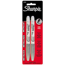 Decorative Reflective Driveway Markers by Sharpie Metallic Silver Permanent Marker 39108 Markers Ace