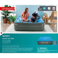 Double High Raised Queen Air Mattress Embark™ Tar