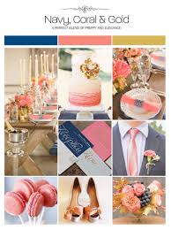 Coral Color Decorations For Wedding by Navy Coral And Gold Wedding Inspiration Board Color Palette